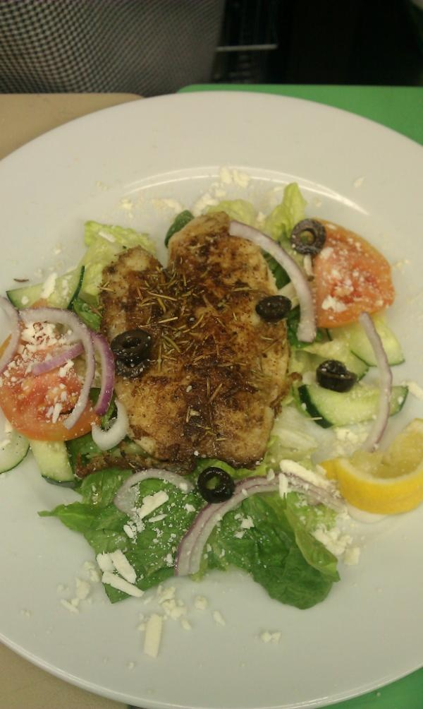 Grilled Tilapia seasoned with Rosemary, Cumin and Garlic on top of a ...