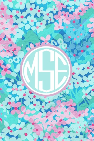 monogrammed lilly pulitzer iphone wallpaper