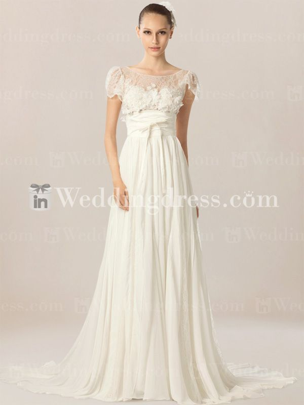 Simple casual beach wedding dress bc005 for Wedding dresses beach casual