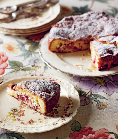 Raspberry and Coconut Cake. With wholemeal flour - revolutionary!