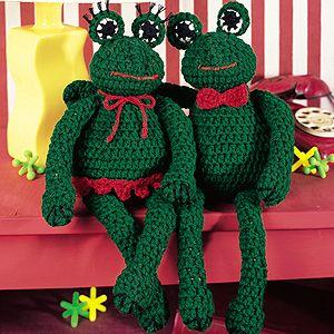 Free pattern for amigurumi crochet frog ~ Free Crochet