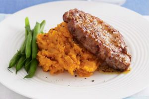 make Pork with Sweet Potato & Vanilla Mash and Cider Jus with Roasted ...
