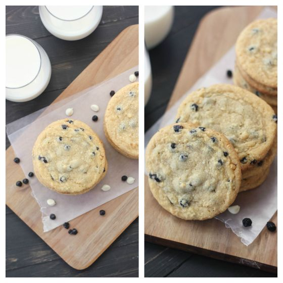 Blueberry and Cream Cookies   www.bakeyourday.net