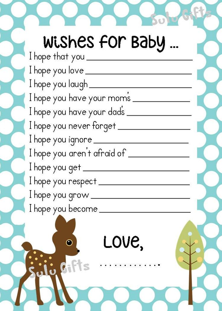 Baby shower games wishes for baby card 2 baby shower ideas