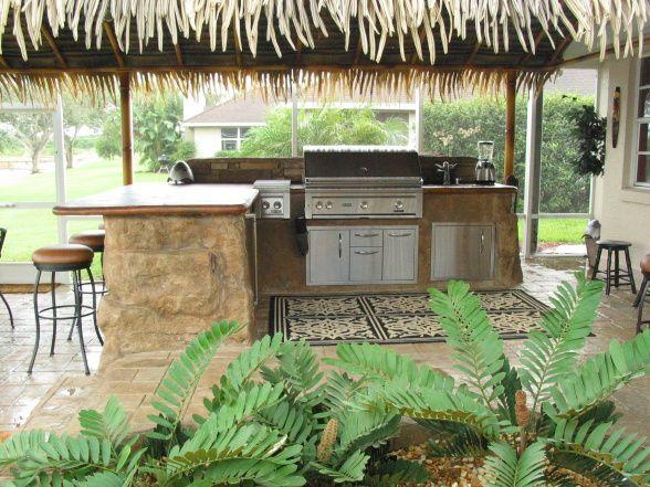 tropical patio kitchen | Patio & Yard Inspiration | Pinterest