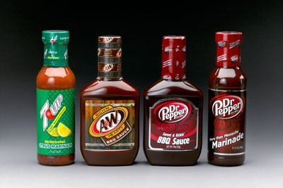 7UP, A&W & Dr Pepper BBQ Sauces and Marinades