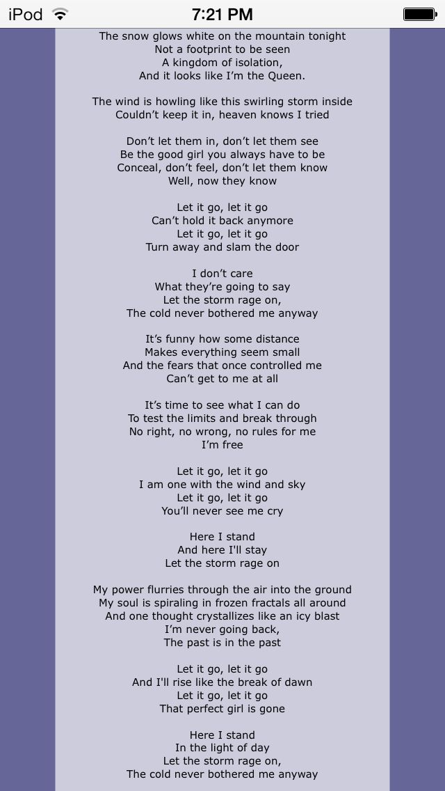 can t let it go lyrics: