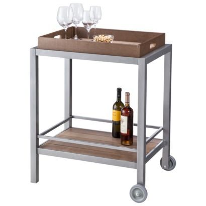 threshold bryant faux wood patio bar cart
