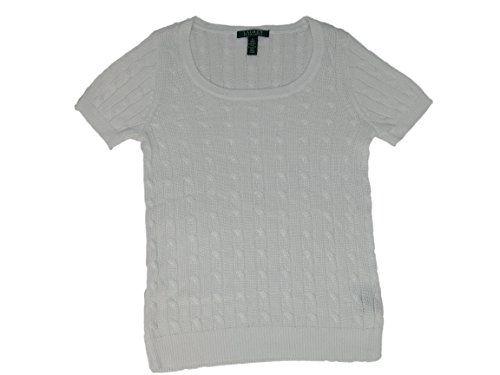 35.00 - Lauren Ralph Lauren Scoop Neck Cable Knit Short Sleeve
