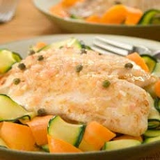 Tilapia Piccata Over Vegetable Ribbons | Things That Make You Go MMMM ...