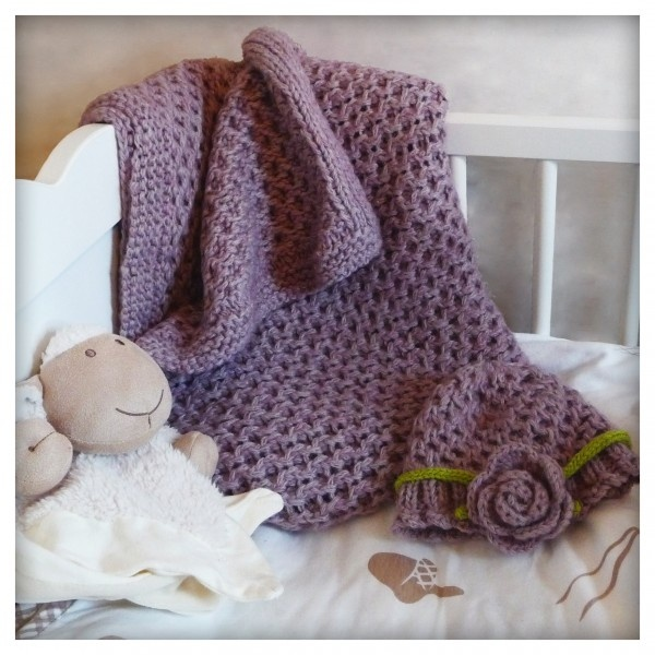 Free baby blanket and hat pattern Crochet Pinterest