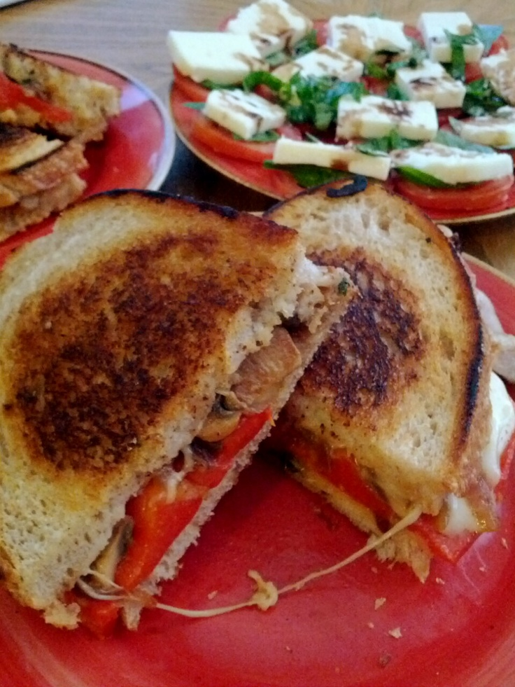 how i made marinated roasted red pepper grilled cheese from closet ...