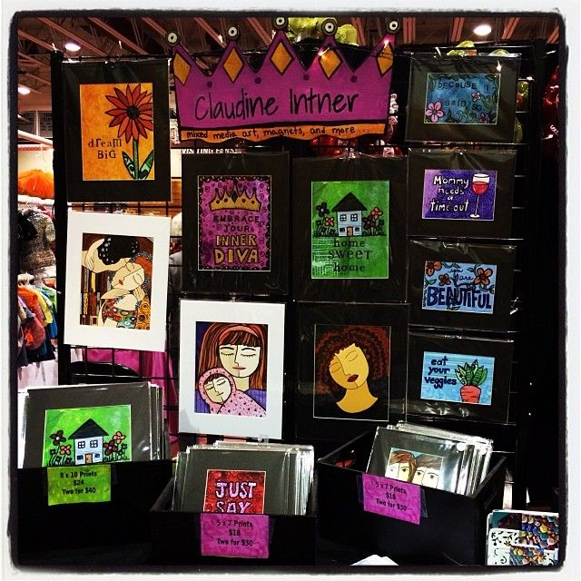 Pin by claudine intner on craft show display ideas pinterest for Display walls for art shows