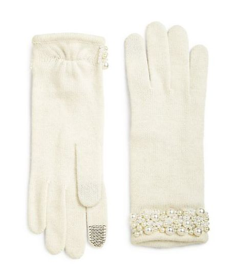 Pearl wrist touchscreen gloves. Sweet gift.