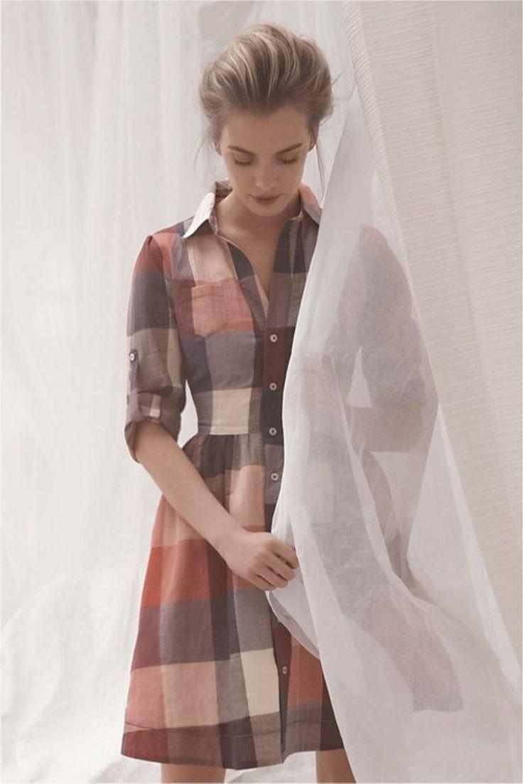 Plaid shirt dress for women style pinterest