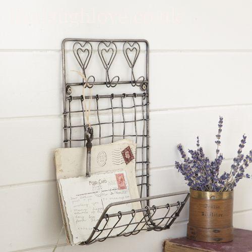 Wall hanging letter key rack entry pinterest - Key and letter rack ...