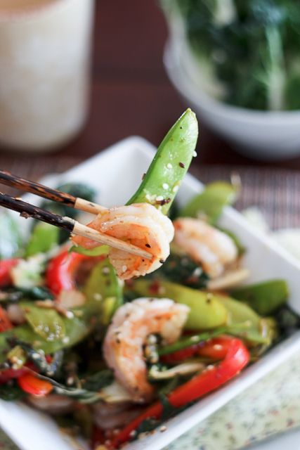 Shrimp and Baby Bok Choy Stirfry - The Healthy Foodie