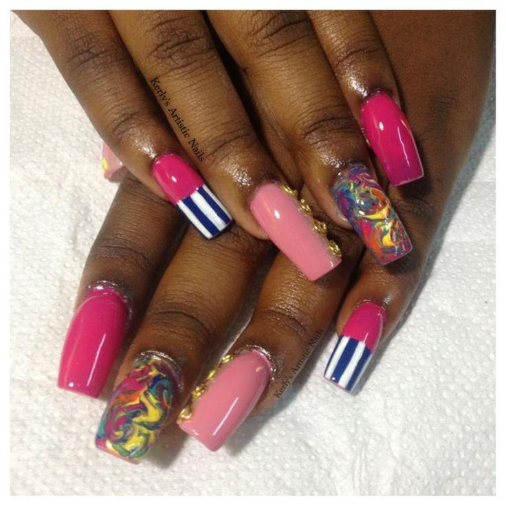 Nicki Minaj Inspired Nail Designs