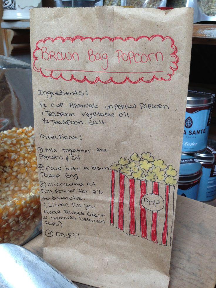 Homemade Microwave Popcorn   Nummy in my Tummy   Pinterest