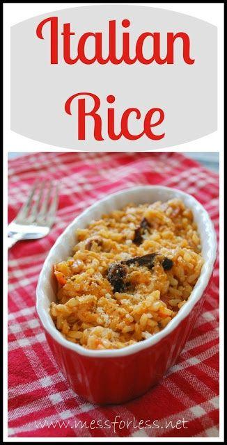 Easy Italian Rice ....has tomato sauce, mozzarella, sun dried tomatoes ...