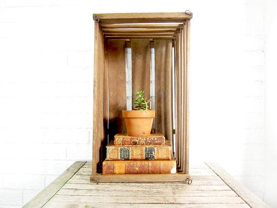 Vintage lobster trap antique wooden crate rustic home decor sto - Trap decor ...