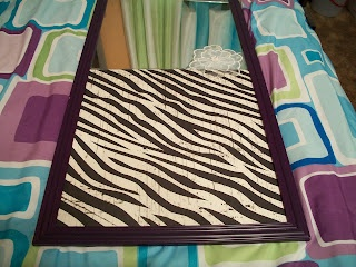 Fix Broken Mirror Cover The Crack With Scrapbook Paper