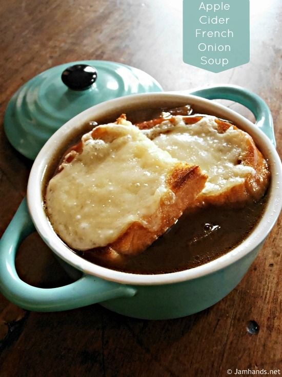 More like this: french onion soups , onion soups and apple cider .