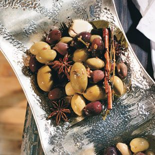 Marinated Olives with Herbs and Star Anise Aromatic spices—including ...