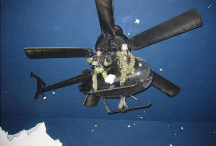 Helicopter Ceiling Fan - Best Ever ! If I find A Model Helicopter , I ...