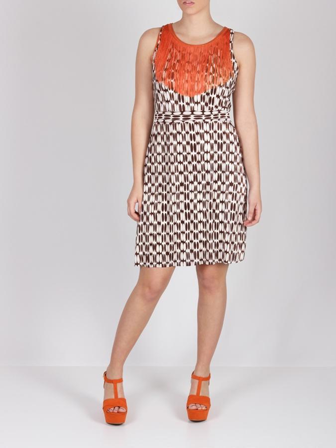 Vestido estampado con flecos #dress