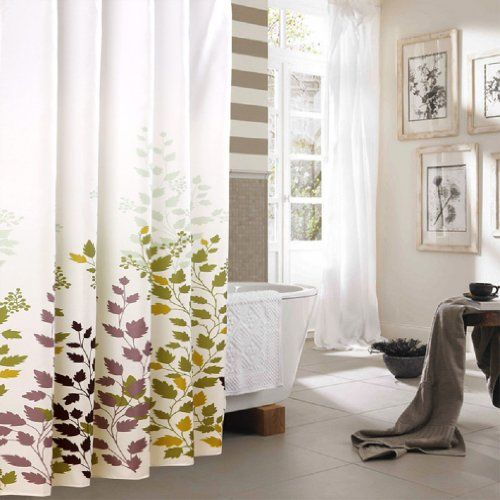 Long Shower Curtain - Tree Leaves Shower Curtain (40 Wide x 80 Long ...