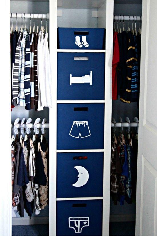 Closet Organization Boys Bedroom Pinterest