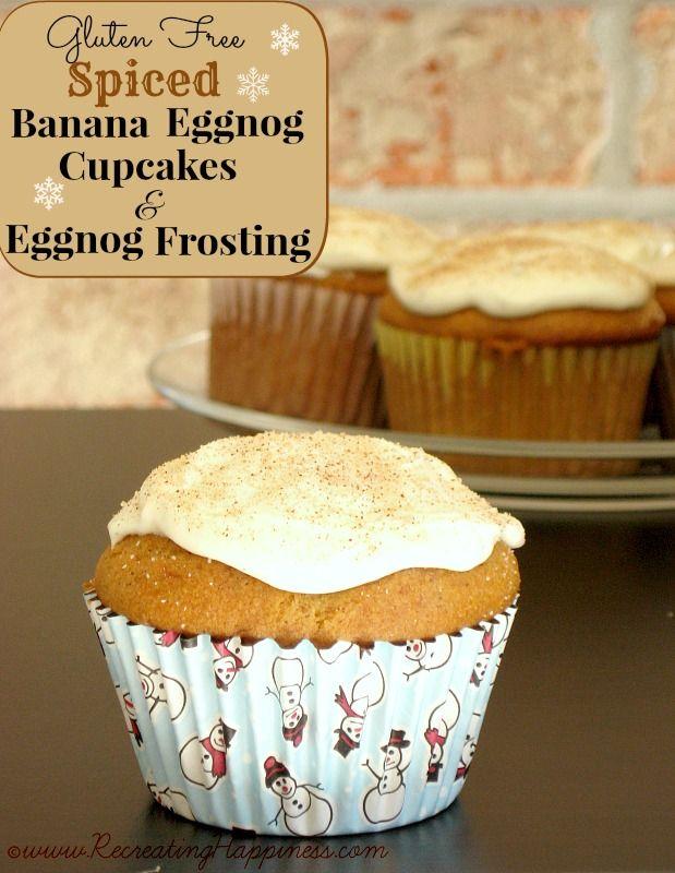 Free} Spiced Banana Eggnog Cupcakes | Eggnog Cream Cheese Frosting ...