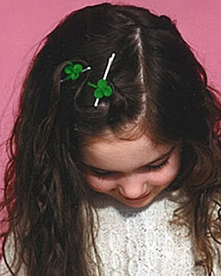 Shamrock hair pins #stpatricksday