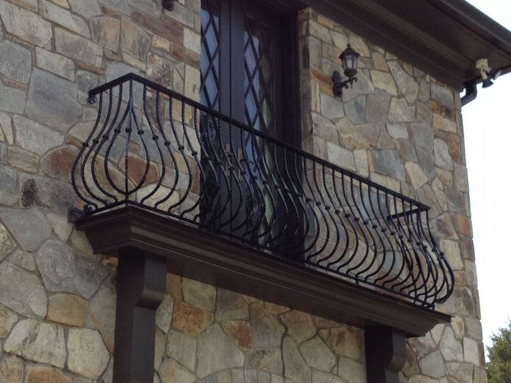 Juliet balcony with iron railings french country for French balcony railing