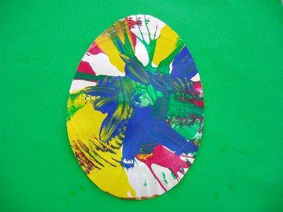 Salad Spinner Easter Egg craft for kids. | Easter | Pinterest