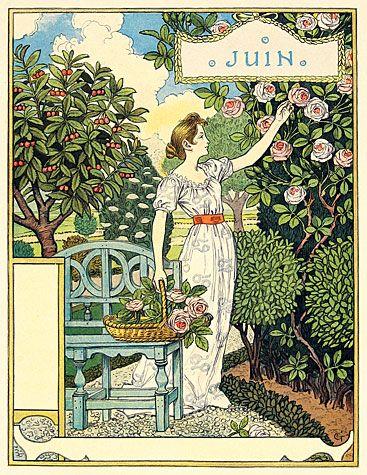 Eugène Grasset. Juin(June).
