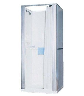 temporary shower in basement premium fiberglass free standing
