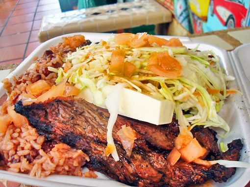 ... gallopinto (small red beans mixed with rice) and coleslaw Nicaraguan