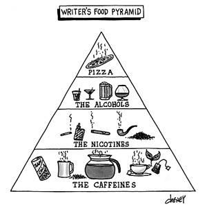 Writers Food Pyramid interesting-stuff