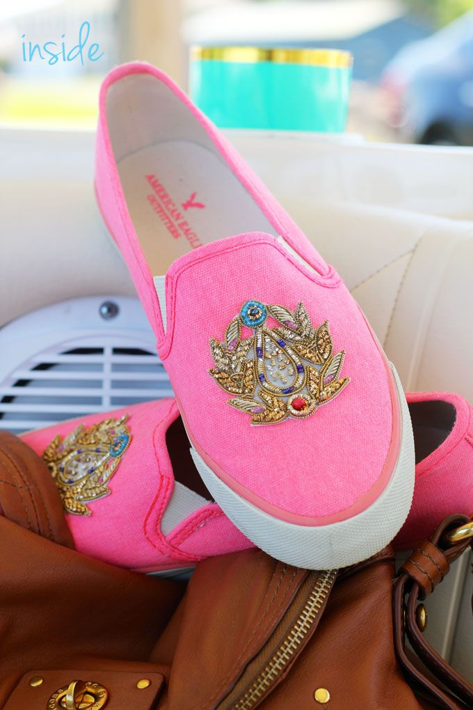 Snazz up your inexpensive shoes easily