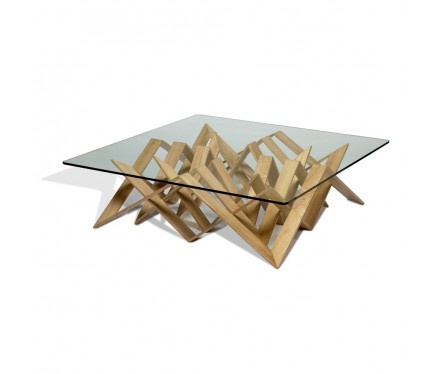 by Vito Selma  Futura Cocktail Table With Glass