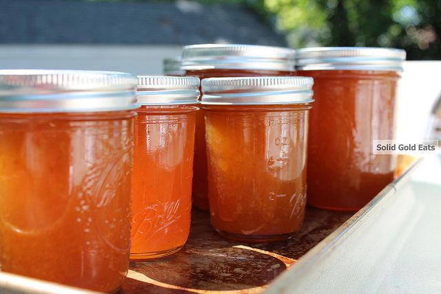 Getting boozy with bourbon peach jam | Canning and Preserving | Pinte ...