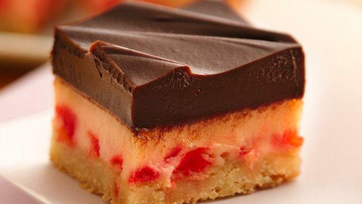 Choco-Cherry Cheesecake Bars - Holiday Cottage http   www
