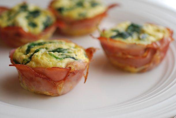 Spinach & Goat Cheese Frittata Ham Cups | Always Order Dessert
