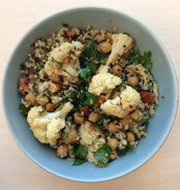 Cauliflower, Chickpea and Quinoa Salad with Pickled Jalapeno-Lemon ...