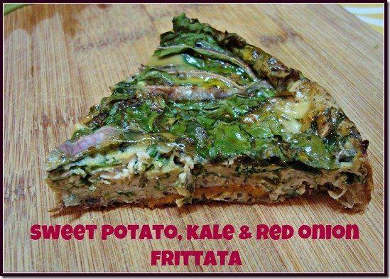 sweet potato Kale Fritatta. Next time i will make this using 2 sweet ...