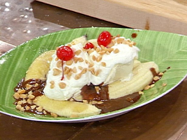 Grilled Banana Splits with Hot Fudge and Rum Caramel Sauce Recipe ...