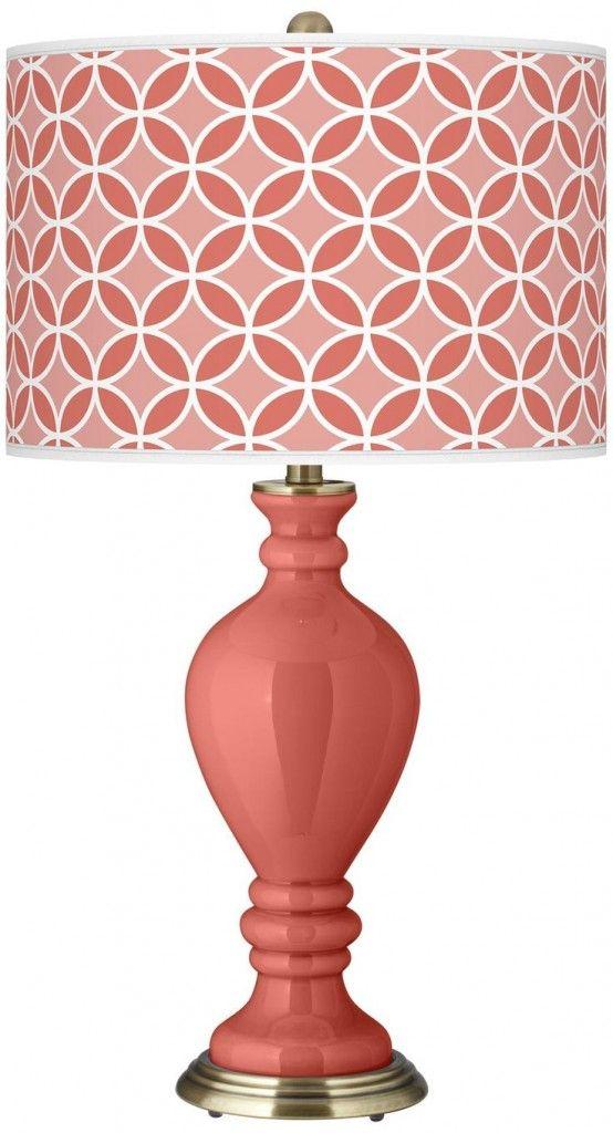 coral lamp color me coral pinterest. Black Bedroom Furniture Sets. Home Design Ideas