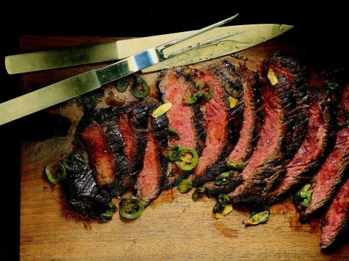 Flank Steak with Lime Marinade by Eva Longoria